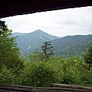 View from Inside Whiteface Shelter on the Long Trail in Vermont