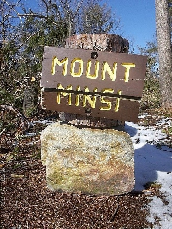 Mount Minsi (1,461 feet) Sign in Pennsylvania