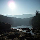 Early Morning Sun Over Sterling Pond on the Long Trail in Vermont