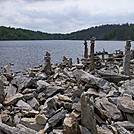Cairn (Rock Art?) Along Sunfish Pond in New Jersey
