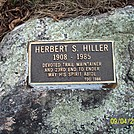 Herbert S. Hiller (1908-1985) Plaque Along the AT in New Jersey