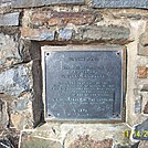 Sunfish Pond Plaque in New Jersey