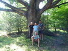 A Few Of The Group In Front Of A Huge Oak Tree