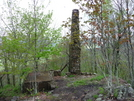 Old Chimney Under Shuckstack by Engine in Views in North Carolina & Tennessee