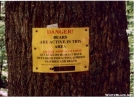 Warning by squeeze in Sign Gallery