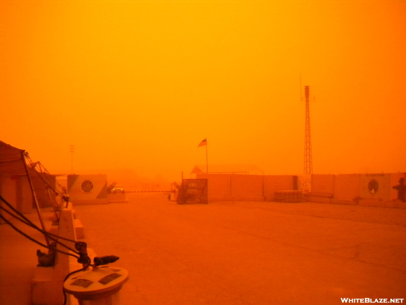 Sand Storm Here In Kirkuk, Iraq (25 Feb 2010)