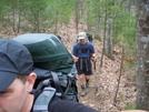 Blue & Stubble Hiking To Hawk Mtn Shelter
