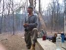 Vietnam Vet Hanging Out At Hawk Mtn Shelter