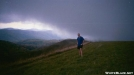 Clouds moving in on Max Patch by Big Dawg in Section Hikers