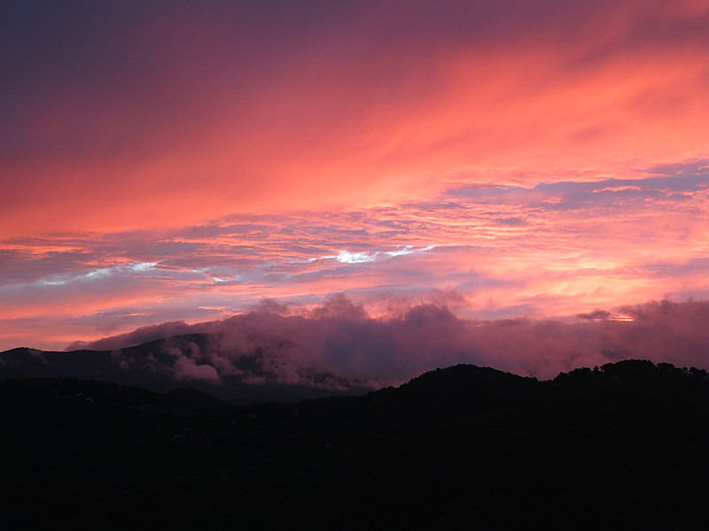 Sunset over Grandfather Mountain