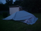 My Myog Tarp Overhang Area Outside 1 by David@whiteblaze in Tent camping
