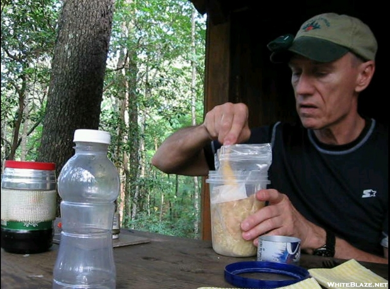 Dinner Time At Stover Creek Shelter