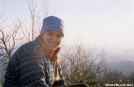 Jumpstart, enjoying the view from Blood Mountain Shelter, GA