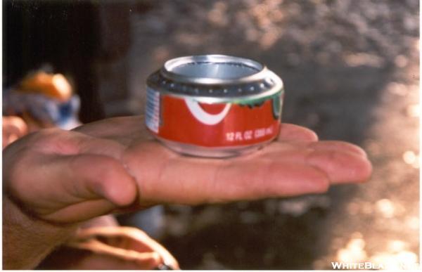 Homemade coke-can stove