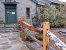 0069 2010.03.12 Neels Gap Walasiyi Inn Hostel Cat On Fence by Attila in Hostels