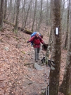 0091 2010.03.13 Matt On Trail Leading To Rocky Knob