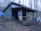 0223 2011.04.02 Gabe At Sassafras Gap Shelter by Attila in North Carolina & Tennessee Shelters