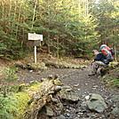 0411 2012.04.03 Gabe At Pecks Corner Shelter Side Trail