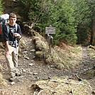 0417 2012.04.03 Gabe At Trail Leading To Tricorner Knob Shelter