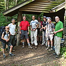 0436 2012.08.26 Section Hikers At Cosby Knob Shelter