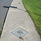 0503 2013.07.13 Bronze AT markers on sidewalks of Hot Springs, NC