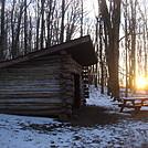 0561 2013.11.30 Sunrise At Hogback Ridge Shelter by Attila in North Carolina & Tennessee Shelters