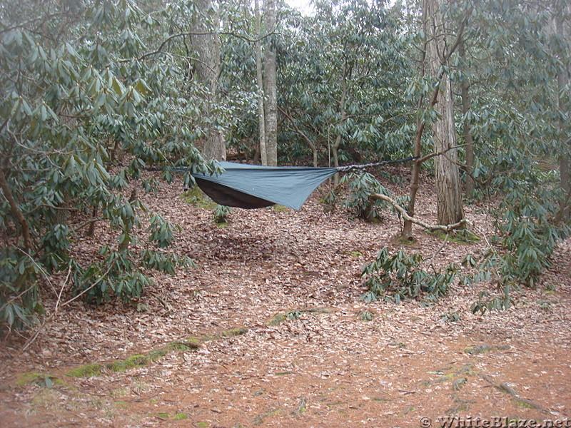 0607 2014.02.08 My Hammock At Curly Maple Gap Shelter