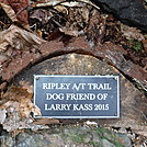0814 2017.02.27 Ripley A/T Trail Dog Friend Of Larry Kass Sign At Comers Creek Falls