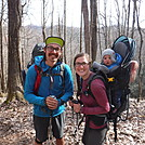 0840 2017.04.02 Ellie, Derrick, and Bekah At Davis Path Campsite