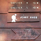 0871 2017.09.04 Incorrect Milage Sign On Jenny Knob Shelter by Attila in Virginia & West Virginia Shelters