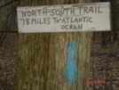 Northern Terminus Of Ri's North-south Trail (beginning Of Mass. Midstate Trail)