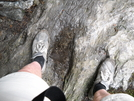 Fossilized Evidence Of Bigfoot? (water In Depression In Rock). by Tinker in Long Trail