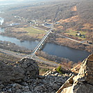 View from top of east side of Lehigh Gap