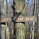 Little Gap trail sign