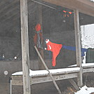 Hangin' on the porch of Kirkridge Shelter