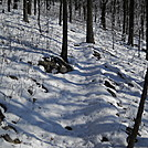 Snow on Pa. Trail - dresses up the rocks by Tinker in Trail & Blazes in Maryland & Pennsylvania