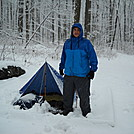 Mariano and his tarp in the snow by Tinker in Gear Gallery
