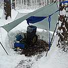 Snow camping hammock and tarp. Monday morning in Md. by Tinker in Hammock camping