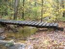 At Footbridge Over Creek (run) In Pa.