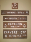 At Signs by rrsmith in Trail & Blazes in North Carolina & Tennessee