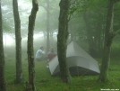 Tarptent in the fog