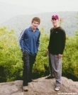 Fat Matt and myself (Energizer) on Tray Mountain in NC by JeffG in Section Hikers