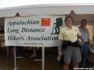 JoJo Smiley at the ALDHA Booth by StarLyte in 2006 Trail Days