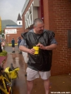 Gary getting water bombed