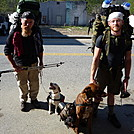 Doofus  on the left with stray dog and random thru-hiker