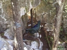 Clark under rock ledge by Ramble~On in Hammock camping