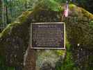 CCC Plaque In Maine by Ramble~On in Trail & Blazes in Maine