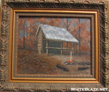 Oil Painting Of Gooch Mtn Shelter