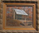 Oil Painting Of Gooch Mtn Shelter