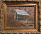 Oil Painting Of Gooch Mtn Shelter by ATShelterArtist in Gooch Mountain Shelter